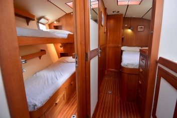 Forward cabins from shared forward shower