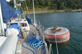 On the overnight mooring, passing through Panama Canal