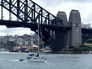 Passing under the Sydney Harbour Bridge